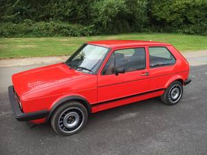 VW MK1 Golf side after restoration.