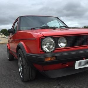 VW MK1 Golf left side after restoration.