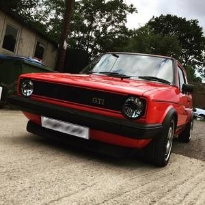 VW MK1 Golf right side after restoration.